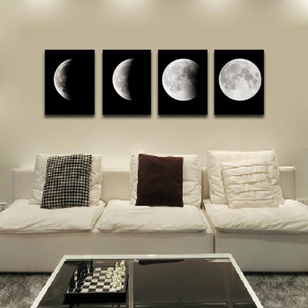 Transer Modern Artwork Wall Art Painting Canvas Painting Wall Paintings Decorative Paintings For Living Room Bedroom - 11.81 x 15.75 inch - 4PCS (Multicolor)