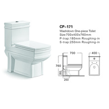CP-171 Unique ceramic siphonic One Piece Flush Toilet home decoration bathroom one piece stainless steel toilet