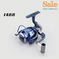 1000 7000 high speed 14BB fishing reels metal wheels handle gapless spool aluminum spinning reel bait