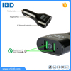 LED indicator QC 2.0 12V/2A Dual Ports USB Car Charger Intelligent with Qualcomm F75299 IC for LG G Flex 2,LG G4
