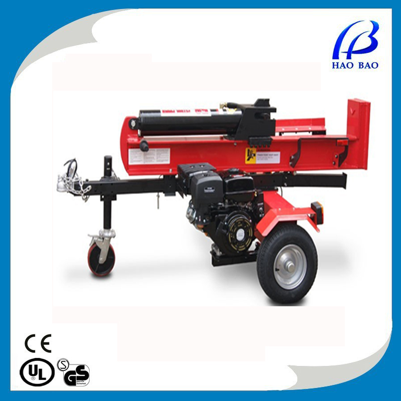 HAOBAO LS100H Horizontal and vertical gasoline engine 50 ton hydraulic log splitter with ram