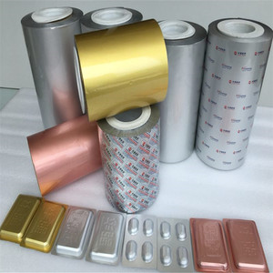 Resistance of light humidity aluminum foil for pharmaceutical with silver and gold colour