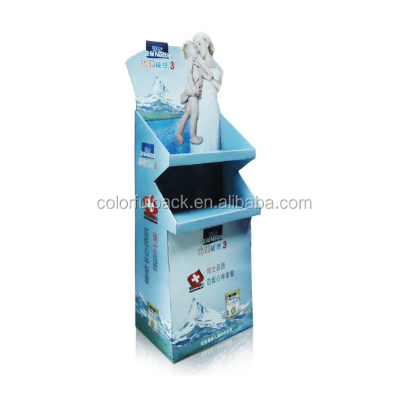 Customer's logo Printing cardboard display stand/nail polish display stand/clothes display stand