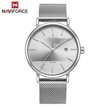 NAVIFORCE женские часы лучший бренд класса люкс из нержавеющей стали ремешок наручные часы для женщин розовые часы Стильные кварцевые женские ч...(Китай)