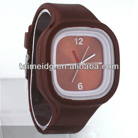 Beauty fancy OEM factory silicone jelly watch
