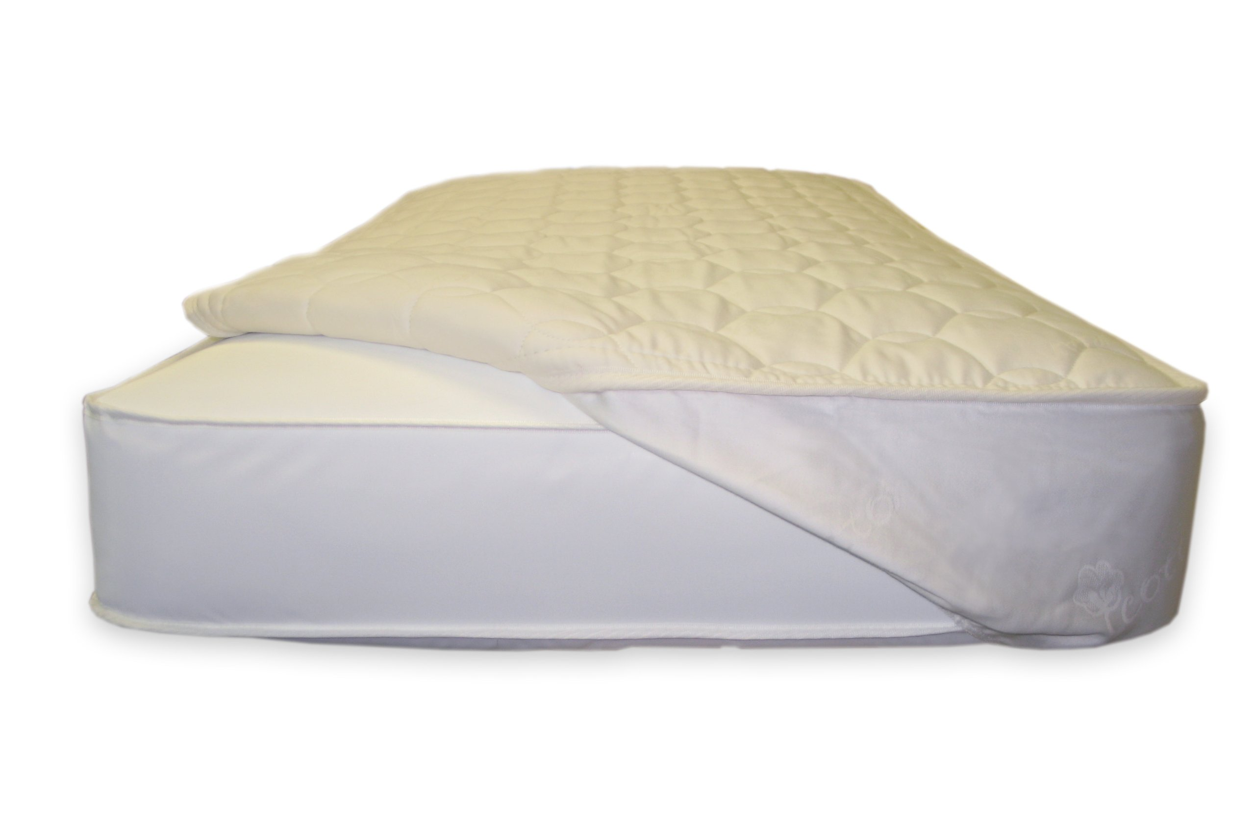 Naturepedic Organic Cotton Deluxe Quilted Fitted Crib Mattress Pad