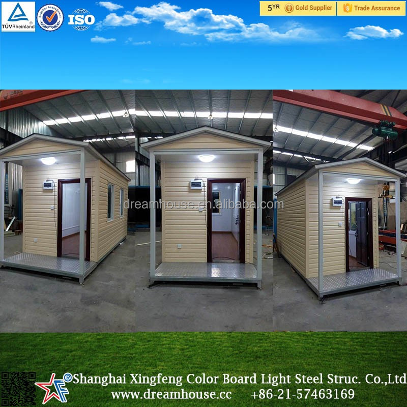 Waterproof tiny steel base prefab container house, Low Cost living 20ft prefabricated container house in south africa price