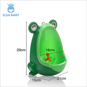 2018 hot selling lovely frog urinal boy toilet training plastic baby potty suck or hang on the wall