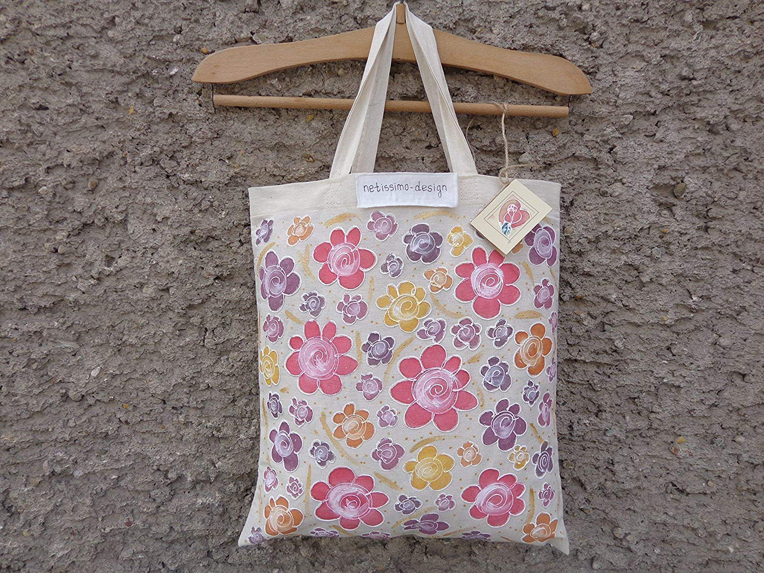 Sale!!!15% Off,Hand Painted Floral Valentine's Day Cotton Canvas Bag,Acrylic Painted Roses,From Weekend beach bag to Everyday Grocery Shopper,Floral Flowers Roses,Rose Canvas Tote