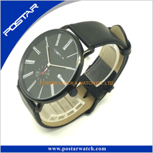 Swatchful Top Sell Factory Sell Direct Popular Quartz Watch with Genuine Leather Band