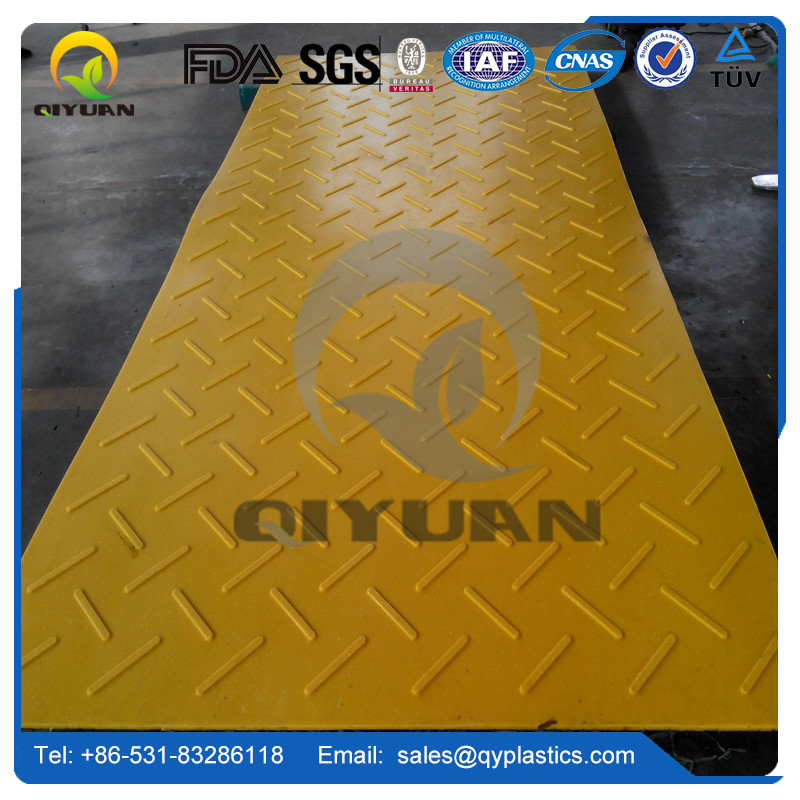 New design construction mats HDPE plastic truck road mats temporary ground protection pad