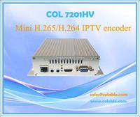 Mini H.265/H.264 IPTV encoder,1CH HD MI + VGA+ Ypbpr +AV in to IP out COL7201HA