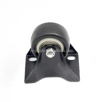 Low Profile 1 5 2 3 40mm 60mm Furniture Black Pu Swivel Cast