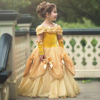 New Design Belle Dress Kids Girl Party Wear Western Floral Flower