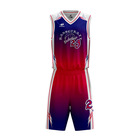 New And Best Basketball Jerseys Style Design Your Own Basketball Uniform Color Red White And Blue Sublimation Basketball Wear