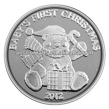 2012 hot-selling christmas sovenir silver coins