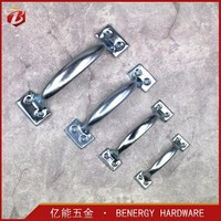 Supply A type door handle galvanized zinc brass plated of door handle furniture hardware