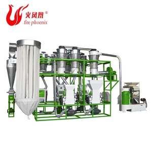 Good quality 400kg complete maize rice flour milling machine