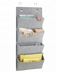 Wall organizer with 4 pockets over the door shoe hanging bag organizer