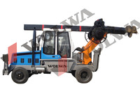 hydraulic drilling rig of pile driver for borehole drilling machine price