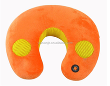 Natural Music Sound Vibrating Massage Neck pillow with speaker MP3 Massage Pillow AJ1070