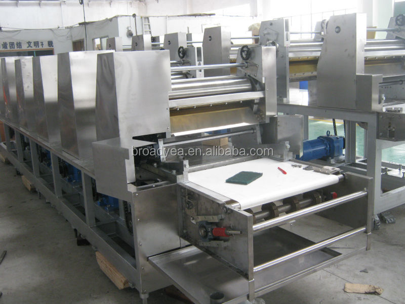 automatic instant noodle machine/Face the production/wonton skin leather cutting machine