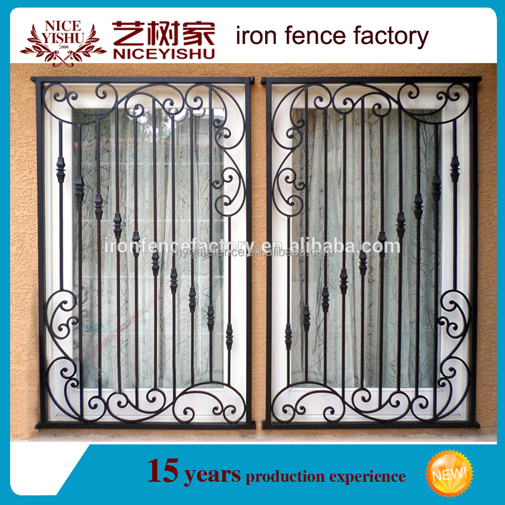 2016 Latest Modern Simple Iron Window Grill Design For Homes
