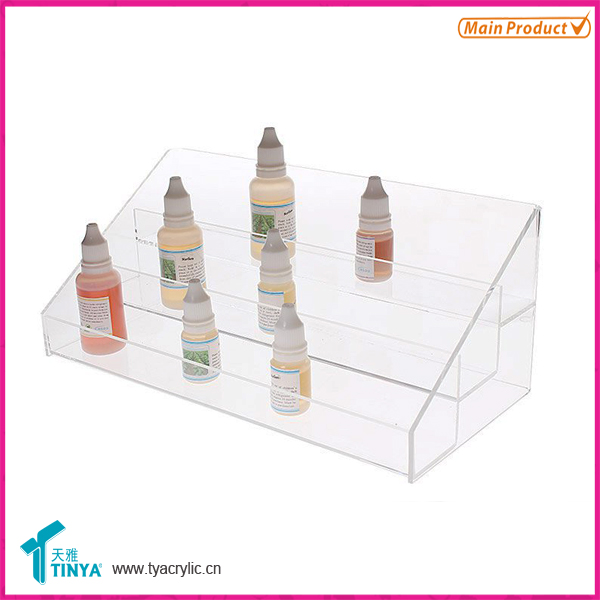 Acrylic 30ml e-cigarette bottle display, custom e-liquid vape juice display cases, Luxury 3 layer e-liquid display