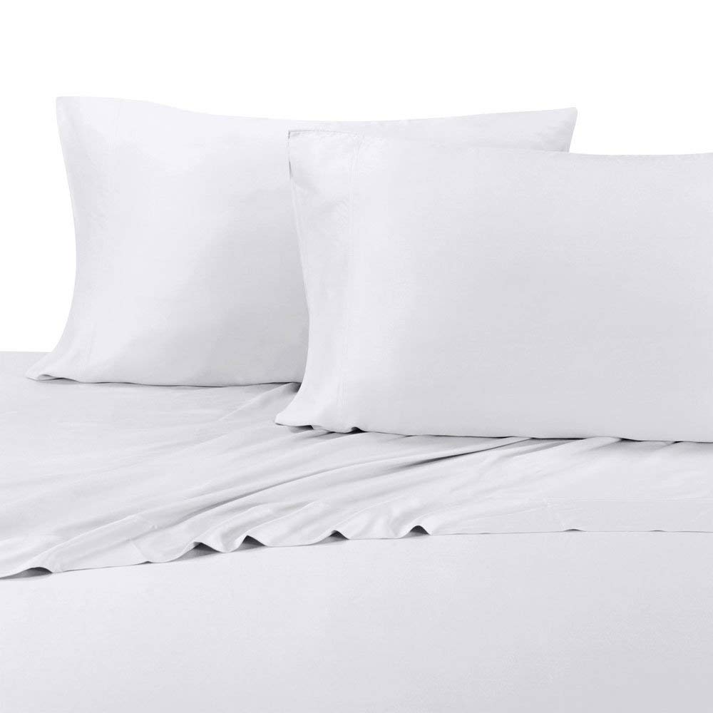 Royal Hotel Twin Extra Long White Silky Soft Bed Sheets 100% Bamboo Viscose Sheet Set