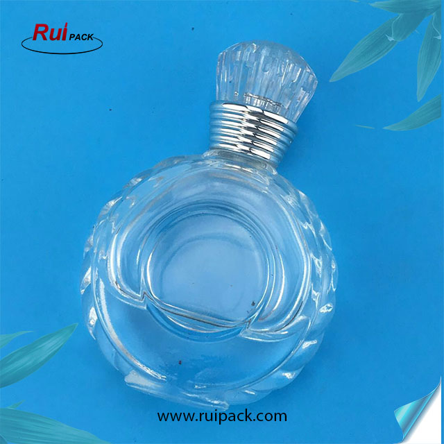 New products 2017 empty round glass cosmetic perfume bottle 30 ml