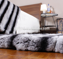Wholesale cheap real rex rabbit fur throw and fur blanket