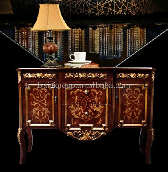 Elegant European Style Console Table Handpaint and Veneer Marquetry BF11-0517a