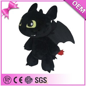 Export plush dragon toys how to train a dragon toothless night fury soft toy