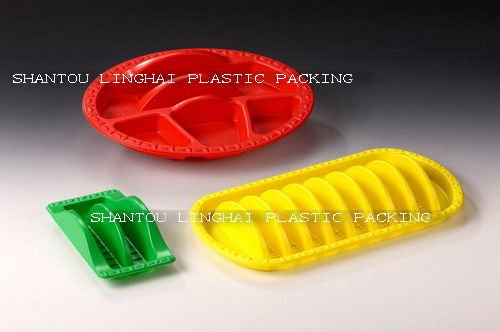 High Quality Disposable Coloful Plastic Sandwich Tray Fast Food Tray
