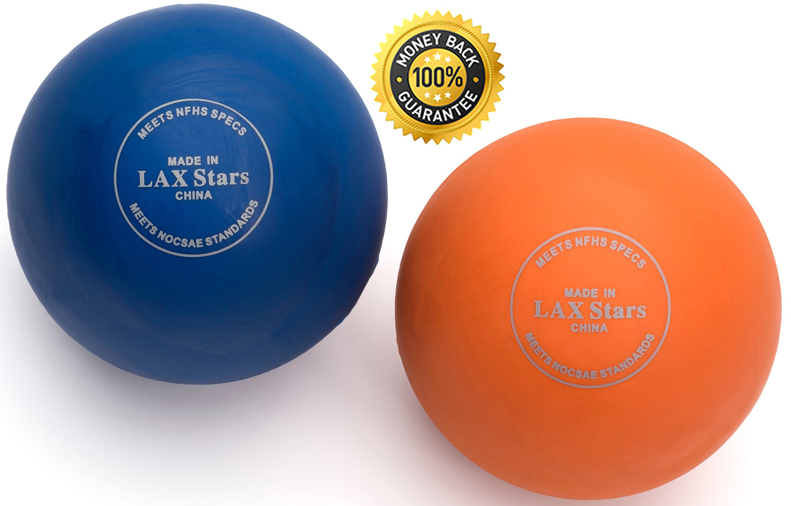 Lacrosse Balls By LAX Stars Myofascial Tension Release, Fascia Release, Massage Balls for Foot, Massage Balls for Back, Trigger Point Therapy Balls, Muscle Knots, Yoga, Pack of 2 Balls