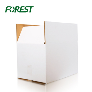 F019 Forest packing cheap price wholesale waxed white custom cardboard carton corrugated box