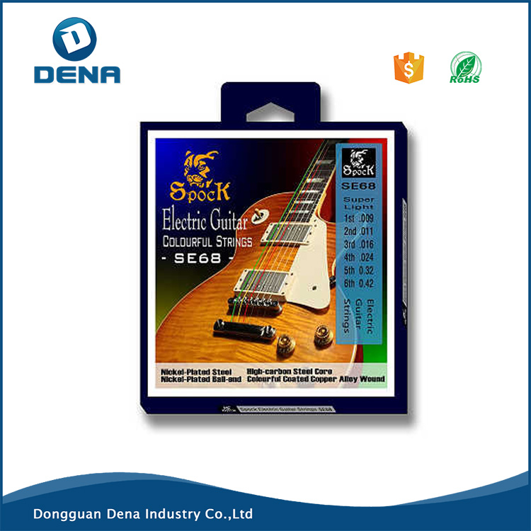 Wholesale colorful electric guitar strings with 6 strings