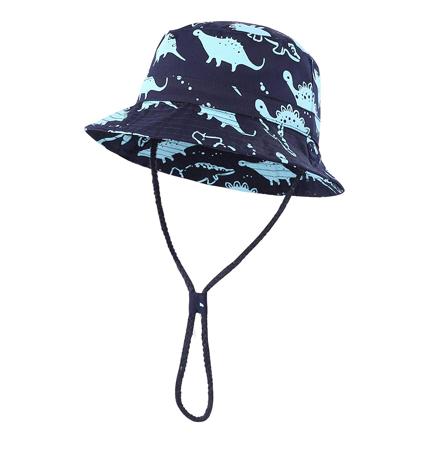 062a4238daa8f Get Quotations · Home Prefer Toddler Boy Kids Sun Hat Cotton Bucket Hat  Cute Dinosaur Fishing Hat