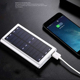 solar travel camping 2.4A output 10000mah premium aluminum power bank phone charger with led light