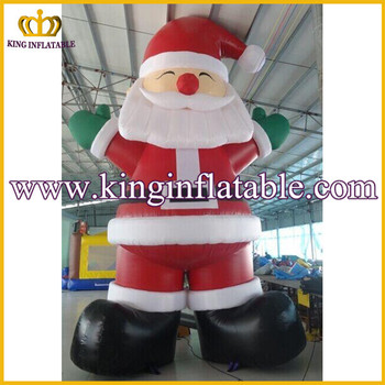 good quality lowes christmas inflatable santa claus 20feet inflatable christmas father outdoor decoration