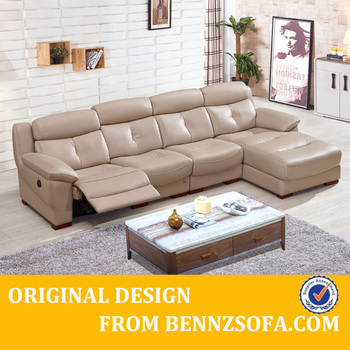 L Shape Leather Recliner Relaxing Couch 8818