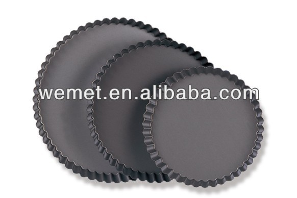 Aluminum Alloy Tart Tins / Decorative Pie Pans