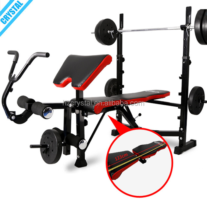 Alibaba.com / SJ-7828 Best selling Multi Home Gym Exercise Equipment weightlifting bench with leg extension