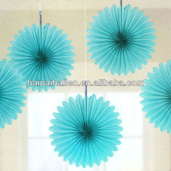 turquoise tissue paper fan decorations tissue paper flower decoration