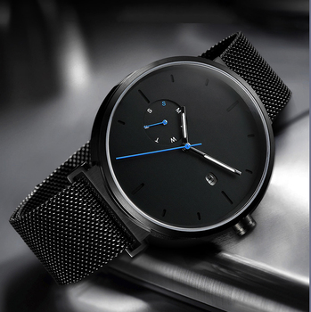 5 Atm Water Resistant Stainless Steel Back Quartz Watch Sapphire Crystal Nd Your Own Watch Black