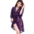 HSZ 838 New Wholesale Large Size Sexy Underwear Lace Three-piece set Women Transparent Adult Uniform Temptation Pajamas Robe