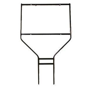 "Banjo Frame for 24""W x 24""H Sign; Powder Coat Black; 3/8"" round rod frame -- (10 per box)"