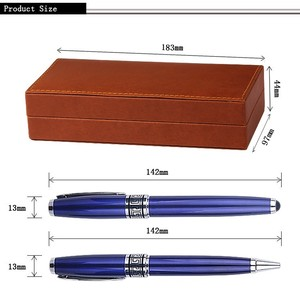 China supplier wholesale executive gift pen set business gift ball pen with custom logo metal pen set