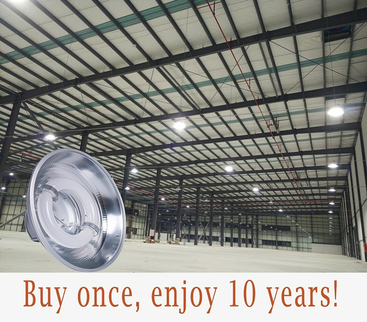 Shock Resistant High Bay Lighting Induction Lamp For Warehouse Everlast Model D 400w Gb