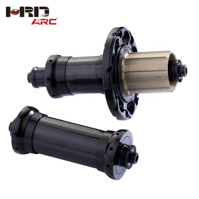 Skillful Manufacture Carbon Fiber Straight Pull RT - 034F / RCB CNC Brake straight Anodized 24 Hole NBK Bearings Road Bike Hubs, Customized as your request